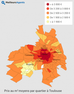 prix immobilier Toulouse