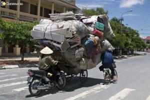 déménagement insolite à vélo