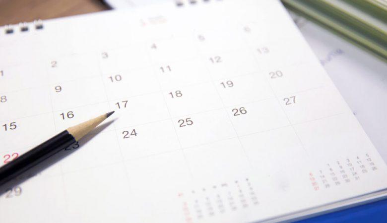 agenda dates 2020